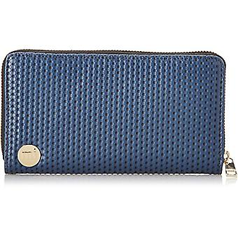 Mi-Pac - Wallet with golden zip fastening, Blue (Navy Blue), One size