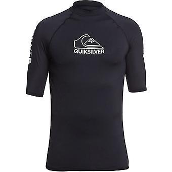 Quiksilver On Tour Short Sleeve Rash Vest in Black