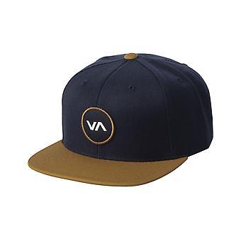 RVCA VA Patch Snapback Cap in Navy/Khaki