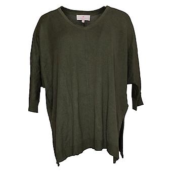 Laurie Felt Mujeres's Suéter sedoso bambú jersey verde A385318