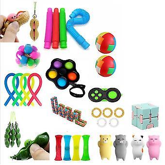 X צעצועים fidget חיישן להגדיר צרור DNA מתח כדורי הקלה עם צעצועי יד fidget az9568