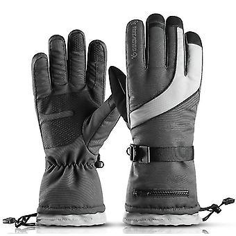 כפפות שלג סקי אפור עמיד למים כפפות סנובורד החורף עמיד בפני רוח לנשים גברים x5793