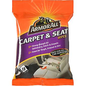 Armor All Carpet & Seat Wipes Pack of 15