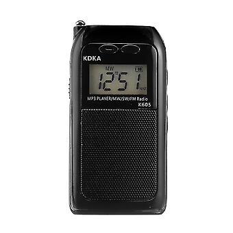 Přenosný FM MW SW rádio LED displej reproduktor MP3 hudební přehrávač
