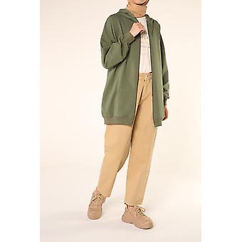 Zippered Pocket Hooded Cardigan