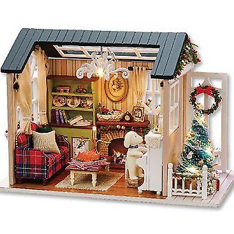Cutebee diy بيت دمية خشبية بيوت دمية مصغرة الأثاث عدة لعب للأطفال هدية عيد الميلاد td28