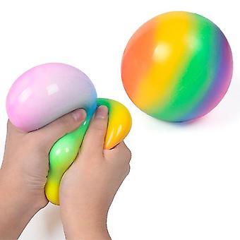 Palla da stress Jumbo Squishy Anti Stress Sfera sensoriale Fidget Giocattolo per adulti e bambini (7cm)