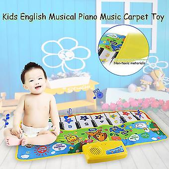Enfants Anglais Musical Piano Musique Tapis Jouer Mat Éducatif Jouet Électronique