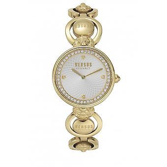 Versus Watches Ladies Steel Jewels 2 Hands Quartz Silver Tone Watch VSP331818