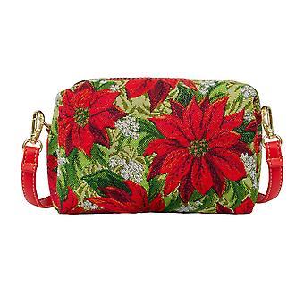 عيد الميلاد poinsettias حقيبة الحزب   عيد الميلاد حقيبة الكتف   hpbg-عيد الميلاد-بوين