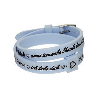Il mezzometro i love you silver silicone bracelet  bm1706