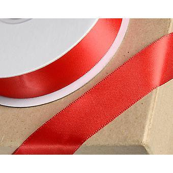 25m rød 23mm bred satin bånd til håndværk