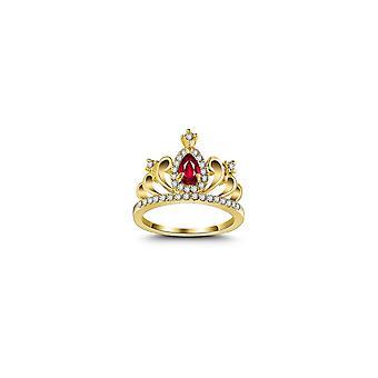 3 kpl Zirconia Crown Ring 18K kullattu kihlattu prinsessarengas naisille