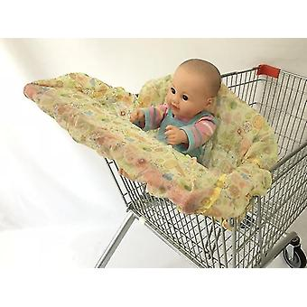 مقاعد معززة عالية الكراسي الرضع سوبر ماركت غطاء عربة التسوق