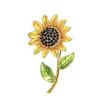 Corsage napraforgó női bross festett sál klip bross pin