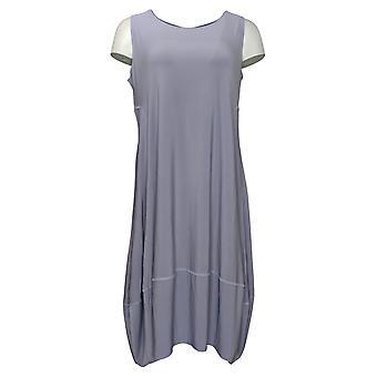 MarlaWynne Petite Dress Matte Jersey Sleeveless With Pockets Gray 694275