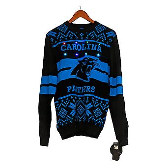 NFL Homme Carolina Panthers Pull LED Lighted Ugly Pullover Noir A371650