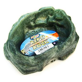 """Zoo Med Repti Rock - Hüllő vízi edény - Közepes (6,5"""" Hosszú x 5"""" Széles)"""