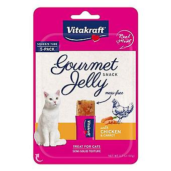 VitaKraft Gourmet Jelly Cat Treat with Chicken and Carrot - 5 count