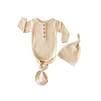 Fawn & Foster Organic Knotted Baby Gown & Hat