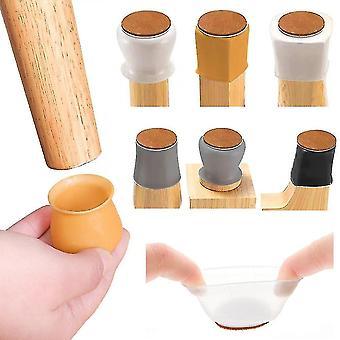 Meble ochraniacze podłogowe 16szt nóżki stołowe czapki antypoślizgowe krzesło noga drewniana mata ochronna podłoga dekoracyjna silikonowe nogi meblowe