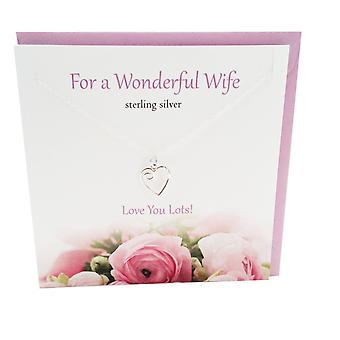 For a Wonderful Wife Pendant Card by The Silver Studio