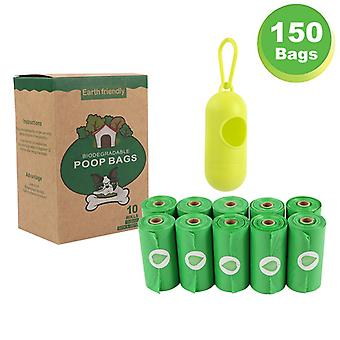 Dog Poop Bags Extra Thick And Strong Plant-based Poop Bags Leak-proof 9 X 13 Inches