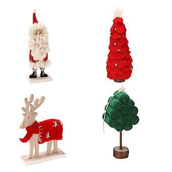 4 stks kerst vilten ornamenten cadeau kerst kerstboom speelgoed decoraties set