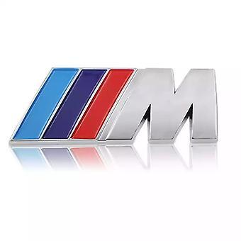 Bmw M Chrome Logo Emblem For Trunk 75x28