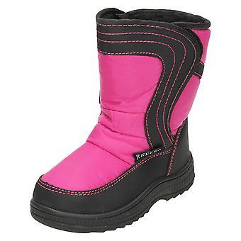 Girls Reflex Fleece Lined Snow Boots 'H4072'