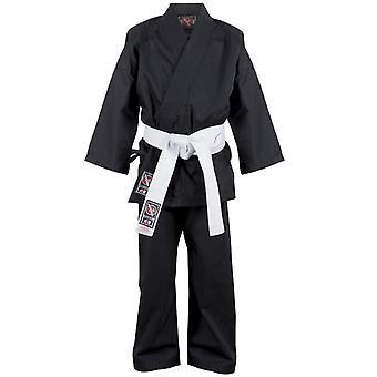 Hayabusa Musha jeugd Karate Gi - Black - kimono taekwondo kinderen