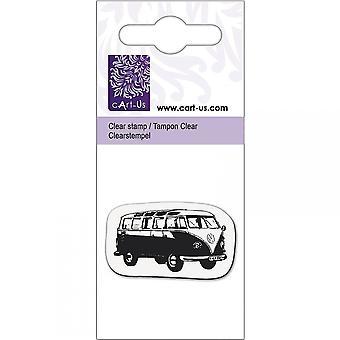 Knorr Prandall Old School Bus Mini Clear Stamp*^^