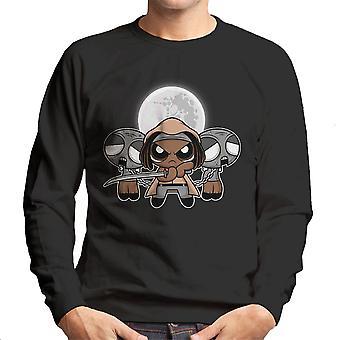 Shuffle And Slice Michonne Walking Dead Men's Sweatshirt