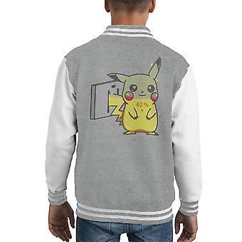 Lade Pikachu Pokemon barneklubb Varsity jakke