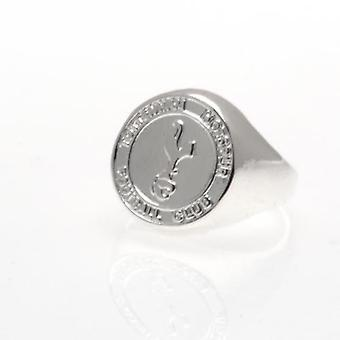 Tottenham Hotspur Silver Plated Crest Ring Small