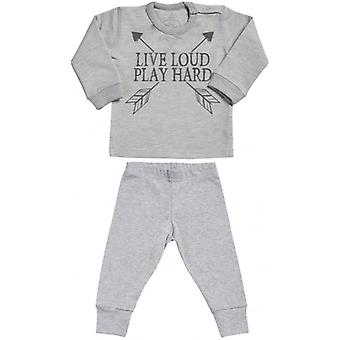 Spoilt Rotten Live Loud Sweatshirt & Jersey Trousers Baby Outfit Set