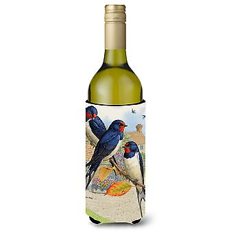 Barn Swallows Wine Bottle Beverage Insulator Hugger