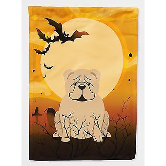 Halloween English Bulldog Fawn Flag Canvas House Size