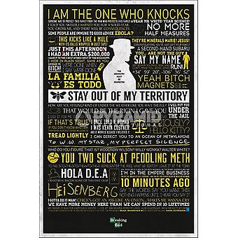 Breaking Bad - Classic citeert Poster Poster Print by