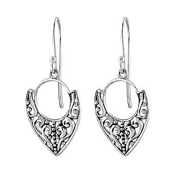 Bali - 925 Sterling Silver Plain Earrings - W32146x