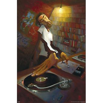 Джастин Bua - DJ Плакат Плакат Печать
