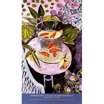Guldfisk plakat Print af Henri Matisse (23 x 40)