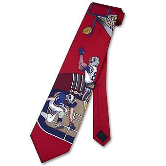 Papillon 100% SILK NeckTie Football Design Men's Neck Tie #124-1