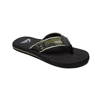 Quiksilver Monkey Abyss Canvas Sandals in Green/Black/Brown