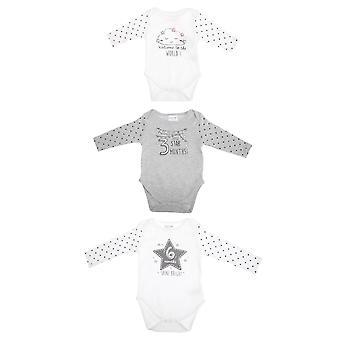 赤ちゃんタウン ボディー スーツ ロンパー (3 パック)