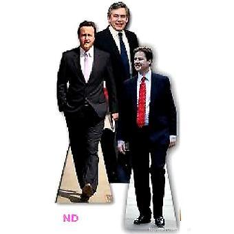 Ritagli di cartone di leader del partito politico nel Regno Unito