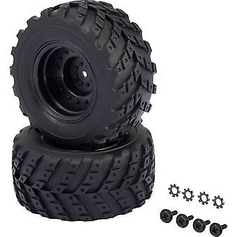 Reely 1:10 XS Monster truck Wheels V Block Hot lander Black 2 pc(s)