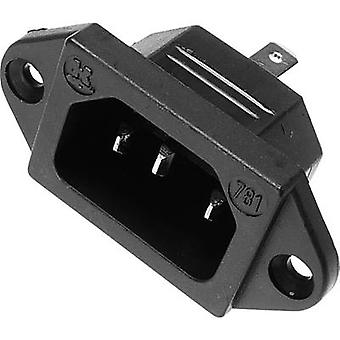 IEC connector Plug, vertical mount Total number of pins: 2 + PE 10 A Black Kaiser 1 pc(s)