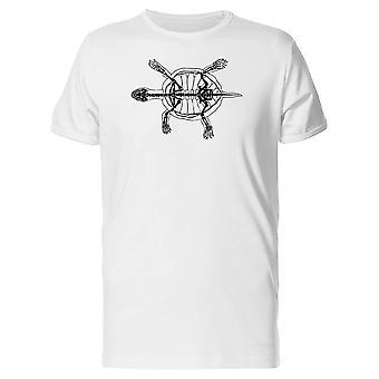 Skelett der Schildkröte T-Shirt Herren-Bild von Shutterstock