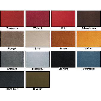 Salonloewe doormat 40 x 60 cm solid colour 11 colors washable dryer suitable